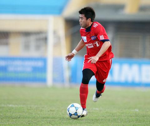 Lee Nguyễn khi còn thi đấu cho B.BD trước đây - Ảnh: ĐỨC CƯỜNG