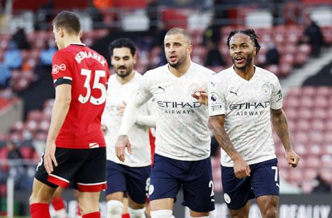 Đã rất nhiều lần ở mùa giải này, Man City thắng tối thiểu, mới nhất là trận gặp Southampton