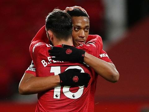 Cùng McTominay, Martial và Bruno Fernandes là ba cái tên thi đấu xuất sắc nhất trận