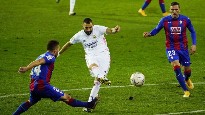 Benzema là ngôi sao sáng nhất trận Eibar vs Real