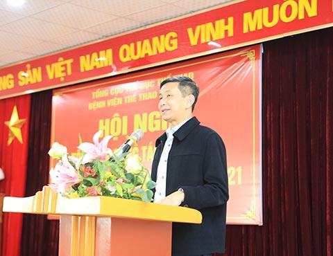 Phó tổng cục trưởng Tổng cục TDTT Nguyễn Danh Hoàng Việt tin tưởng Bệnh viện Thể thao Việt Nam sẽ có nhiều bước phát triển trong năm 2021
