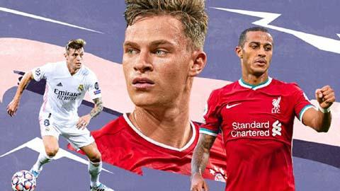 """Top 10 tiền vệ trụ hay nhất 2020: Sao Bayern số 1, """"bộ 3"""" Real góp mặt"""