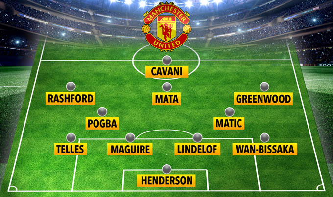 Đội hình dự kiến của M.U đối đầu Everton