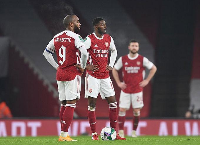 Arsenal đang trải qua giai đoạn một mùa giải 2020/21 một cách thảm họa