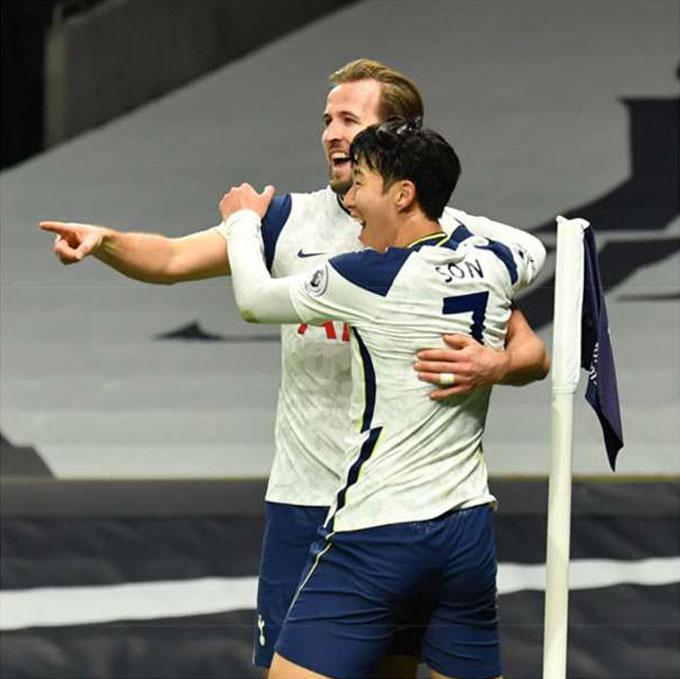 Tottenham hiện giờ vẫn chỉ dựa vào phong độ cá nhân của Harry Kane và Son Heung-min