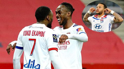 Lyon thăng hoa nhờ bộ ba Kadewere - Ekambi - Depay