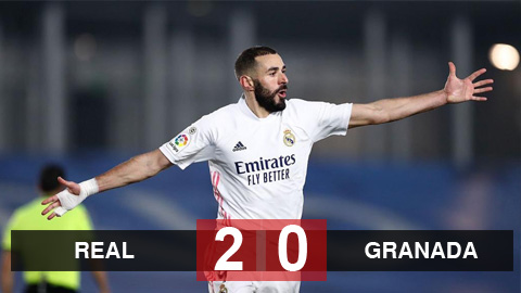 Kết quả Real Madrid 2-0 Granada: Benzema lại ghi bàn, Real bám sát Atletico