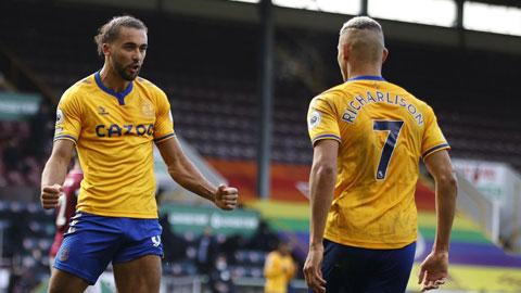 Dù phải đá trên sân khách, Everton vẫn dư sức đả bại đội bét bảng Sheffield Utd