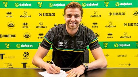 Krul vừa gia hạn với Norwich thêm 3 năm rưỡi