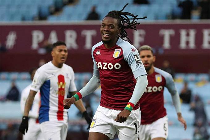Traore mở tỷ số trong trận Aston Villas vs Crystal Palace