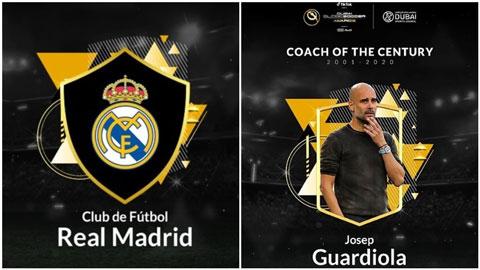 Guardiola và Real Madrid là HLV và CLB xuất sắc nhất thế kỷ 21