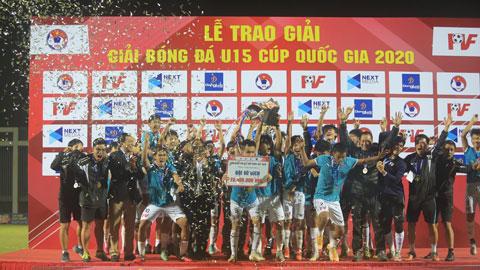 Đánh bại Viettel, PVF vô địch U15 cúp Quốc gia