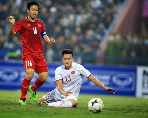 Cả 2 đội tuyển Việt Nam và U22 Việt Nam đều đã bộc lộ đủ ưu nhược điểm thông qua 2 trận đấu - Ảnh: Đức Cường