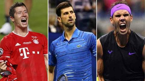 Djokovic, Nadal bị Lewandowski qua mặt