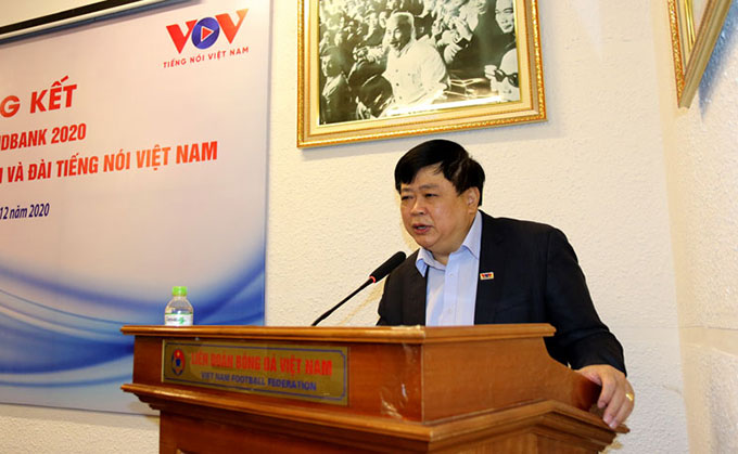 Ông Nguyễn Thế Kỷ – Ủy viên Ban chấp hành Trung ương Đảng, Tổng giám đốc Đài tiếng nói Việt Nam phát biểu tại hội nghị