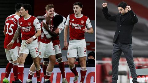 """HLV Arteta tạm thời """"thoát hiểm"""" khi Arsenal có hai trận thắng liên tiếp"""
