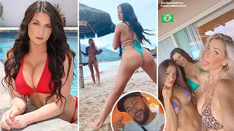 Lộ diện dàn mẫu nóng bỏng dự tiệc xa hoa của Neymar