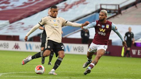 Greenwood (trái) và đồng đội đủ sức đánh bại Aston Villa dù đối thủ có phong độ cao