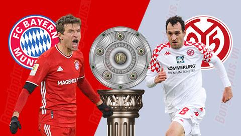 Nhận định bóng đá Bayern vs Mainz, 0h00 ngày 4/1: Đỉnh đè bẹp đáy