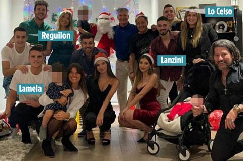 3 cầu thủ Tottenham và Lanzini của West Ham tụ tập đón Giáng sinh