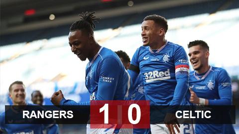 Kết quả Rangers 1-0 Celtic: Thầy trò Gerrard bỏ xa đại kình địch 19 điểm