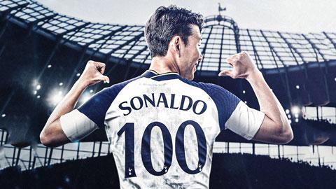 Son Heung-min đạt mốc 100 bàn cho Tottenham