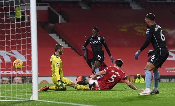 Traore gỡ hòa 1-1 trong trận đấu M.U vs Aston Villa ở phút 58