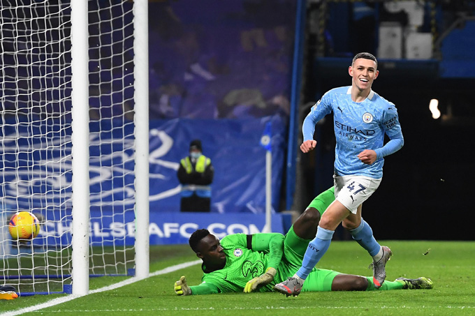 Foden nâng tỷ số lên 2-0 ở trận Chelsea vs Man City