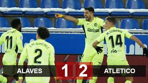 Kết quả Eibar 1-2 Atletico Madrid: Suarez lập cú đúp