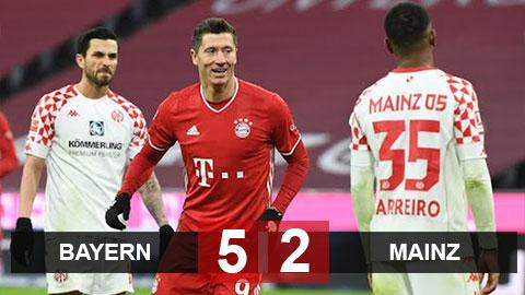 Kết quả Bayern 5-2 Mainz: Ngược dòng đầy bản lĩnh