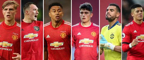 6 cầu thủ M.U sắp bị tống đi trong tháng 1 (trái sang: Williams, Jones, Lingard, James, Romero, Rojo