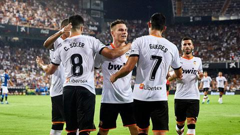 Valencia vào vòng 1/16 Cúp Nhà Vua 2020/21
