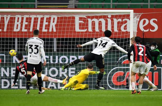 McKennie ấn định tỷ số 3-1 ở phút 76 trận đấu Milan vs Juventus