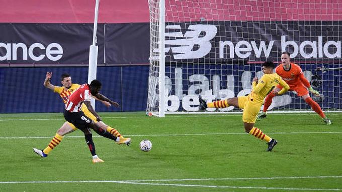 Inaki Williams mở tỷ số ngay từ phút thứ 3 trận đấu Bilbao vs Barca