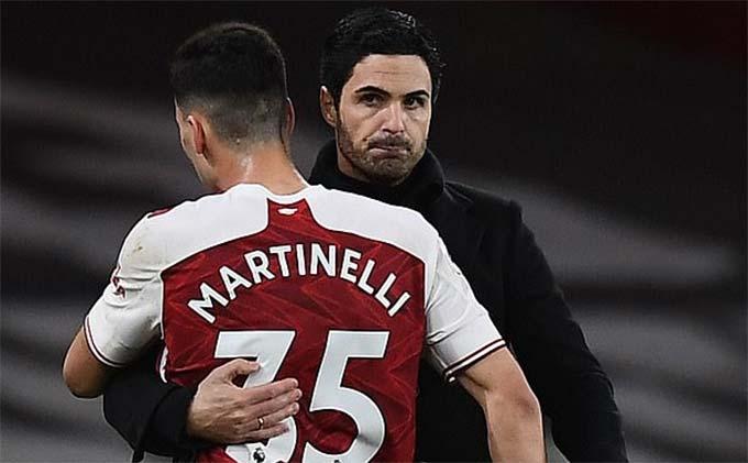 Arsenal đã chơi tốt hơn kể từ khi Martinelli trở lại