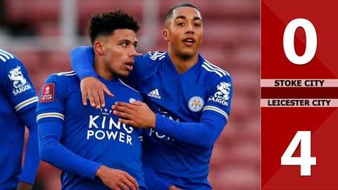 Stoke City 0-4 Leicester City (Vòng 3 - Cúp FA)