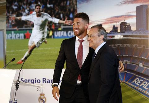 Chủ tịch Real Madrid, Florentino Perez từng nhiều lần ngăn Sergio Ramos rời sân Bernabeu