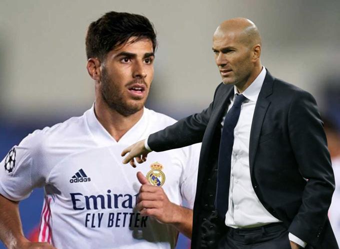 Zidane khiến nhiều người khó hiểu khi rút Asensio rời sân sớm dù anh đang thi đấu tốt