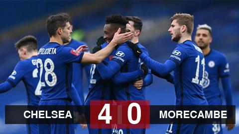 Kết quả Chelsea 4-0 Morecambe: Werner ghi bàn sau 13 trận tịt ngòi, Chelsea đi tiếp ở FA Cup