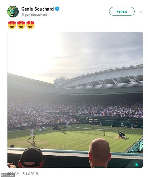 Một trong những lần hiếm hoi mấy chị em nhà Bouchard xuất hiện cùng nhau là ở trận Nick Kyrgios gặp Rafael Nadal ở vòng hai Wimbledon 2019