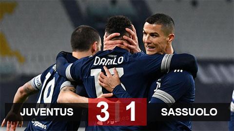 Kết quả Juventus 3-1 Sassuolo: Bà đầm già vào Top 4
