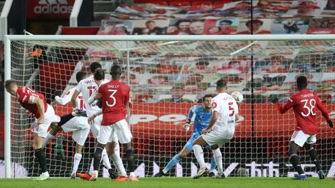 McTominay khi ghi bàn vào lưới Watford