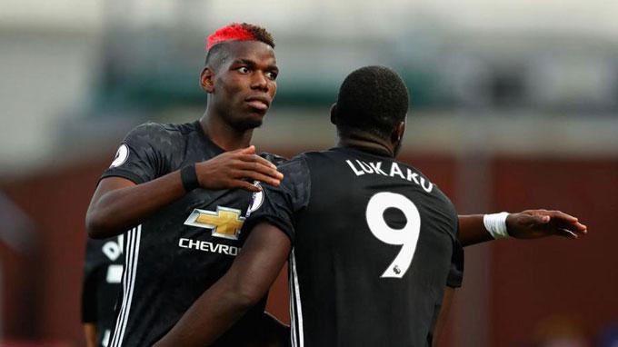 Pogba và Lukaku là những người ghi bàn cho M.U