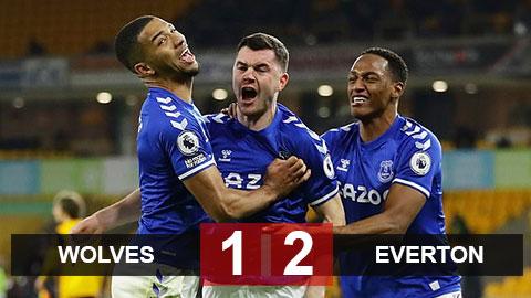 Kết quả Wolves vs Everton: Đánh bại Wolves, Everton tiếp tục có tên trong top 4