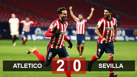 Kết quả Atletico 2-0 Sevilla: Thắng cách biệt Sevilla, Atletico nới rộng khoảng cách với Real Madrid