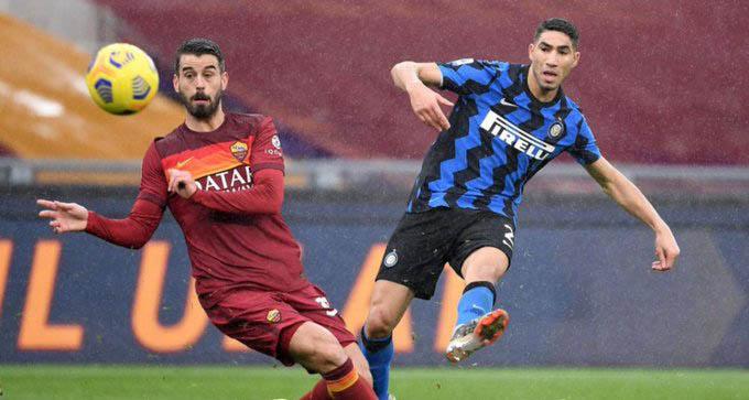 Hakimi với bàn thắng đẳng cấp vào lưới Roma