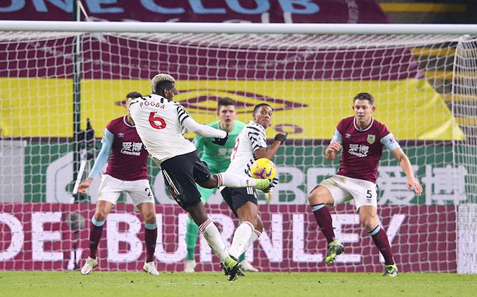 Pogba ghi bàn duy nhất trong chiến thắng của M.U trước Burnley