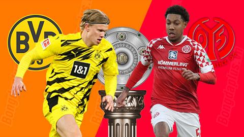 Nhận định bóng đá Dortmund vs Mainz, 21h30 ngày 16/1