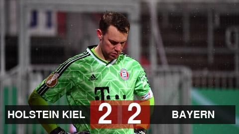 Kết quả Holstein Kiel 2-2 (pen 6-5) Bayern Munich: ĐKVĐ dừng bước sau loạt luân lưu