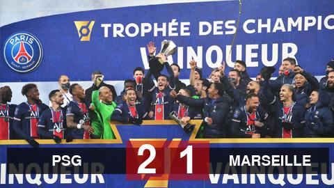 Kết quả PSG 2-1 Marseille: Neymar giúp PSG vô địch Siêu cúp Pháp